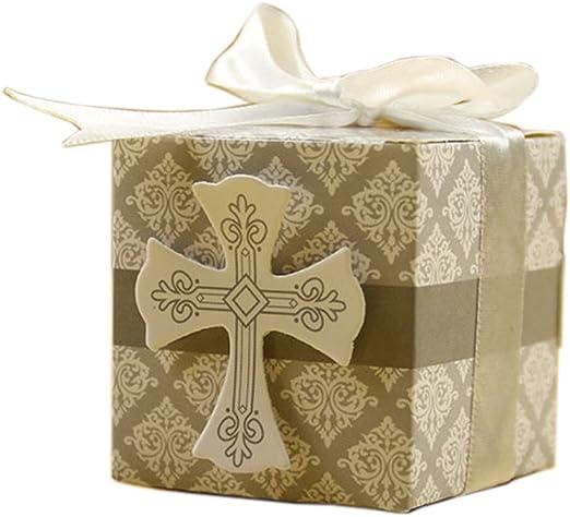 SHINA 50pcs DIY Cruz Cajitas Caramelos Caja de regalo, caramelos ...