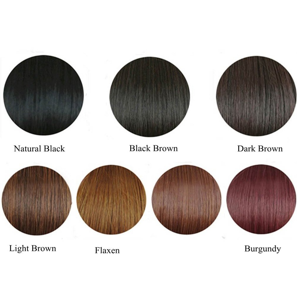 Amazon Moreal 14 Inch Straight Synthetic Hair Middle Part Top