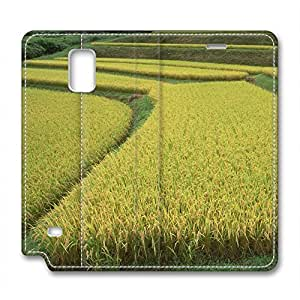 Rice Field Design Brand New Samsung Note 4 Leather Case have A Big Crop