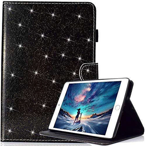 Case for Amazon Fire HD 10 (7th Gen/ 5th Gen, 2017/ 2015 Release) with Free Pen, Glitter Sparkle Slim PU Leather Soft TPU Inner, Stand Smart Cover Auto Wake/Sleep for Kindle Fire HD 10