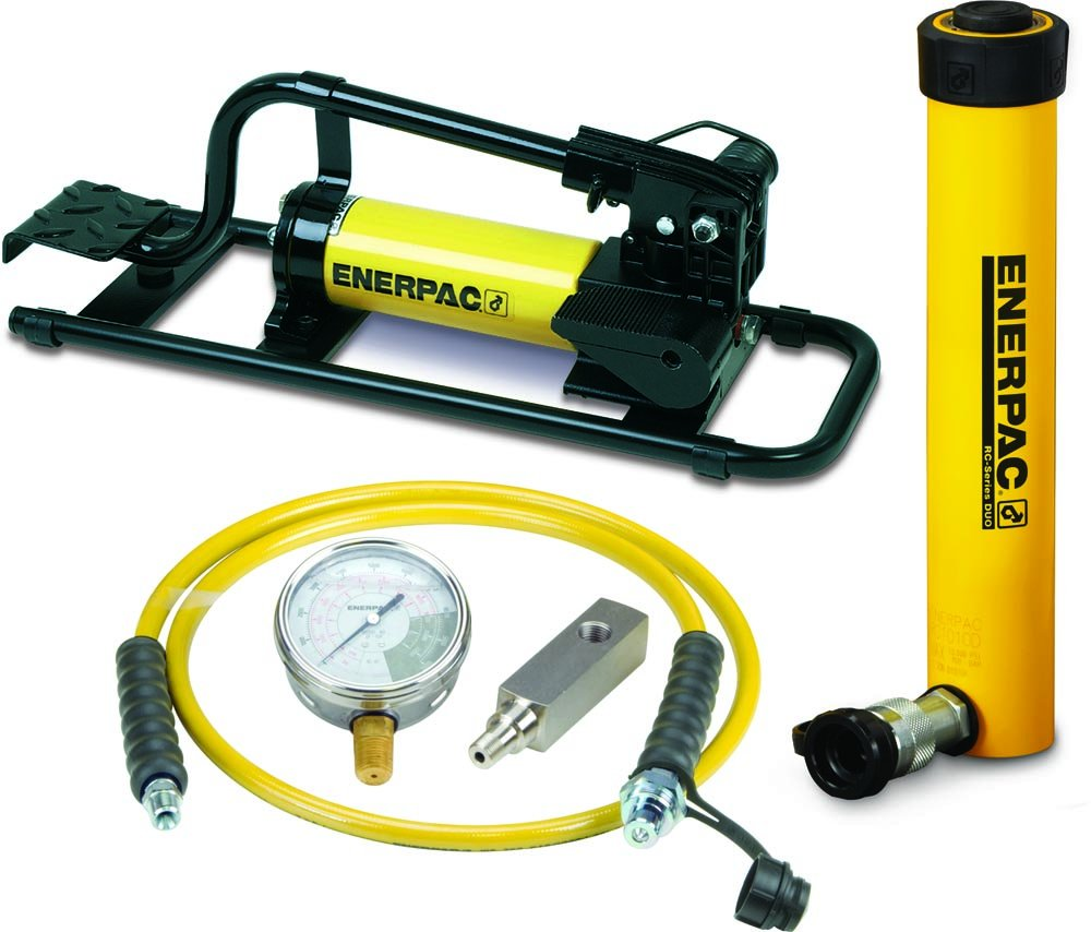 Enerpac SCR-1010FP Cylinder and Pump Set with RC1010 Cylinder and P392FP Foot Pump