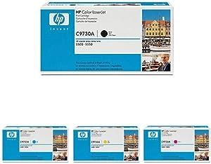 HP 645A (C9730A, C9731A, C9732A, C9733A) Toner Cartridge in Retail Packaging Bundle