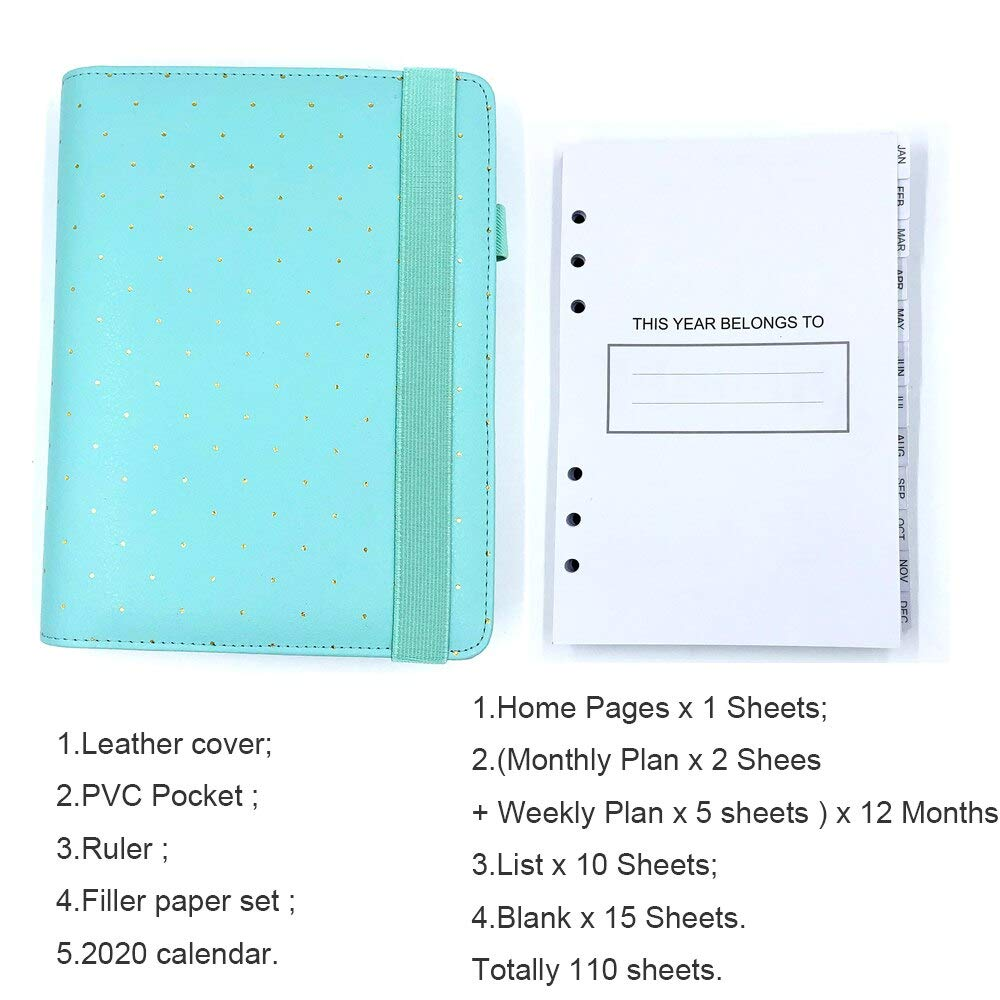 Amazon.com: Weekly Monthly Planner Leather Cover Notebooks ...