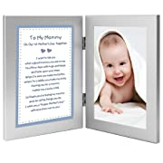 1st Mother's Day Together Poem from Son to Mommy Gift, New Baby Boy, Add Photo