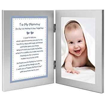 1st Mothers Day Together Poem From Son To Mommy Gift New Baby Boy Add Photo