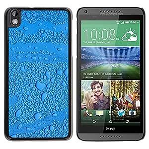 TopCaseStore / la caja del caucho duro de la cubierta de protección de la piel - Rain Drop Droplet Water - HTC DESIRE 816