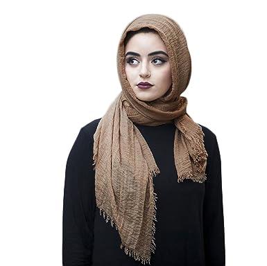 SAFIYA - Hijab pour femmes musulmanes voilées I Foulard voile turban  écharpe pashmina châle islamique I d837bd87a8e