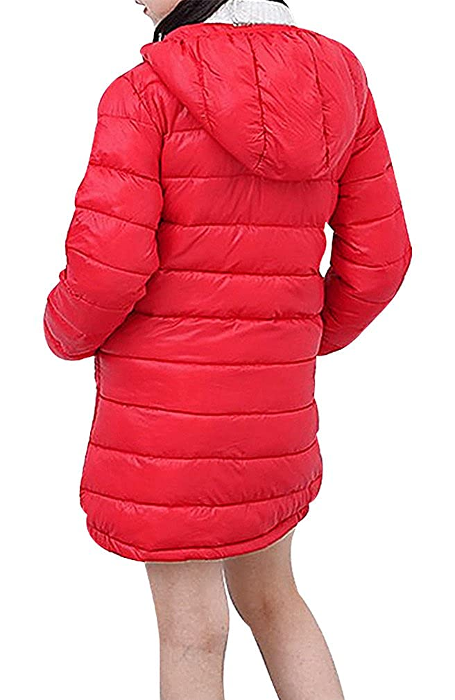 BPrincess Girls Lightweight Zip Up Quilted Medium Hooded Slim Duck Down Jacket