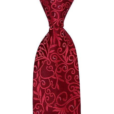 JINQD Home 8cm Burdeos Rojo Vino Rojo Corbata Floral Conjunto ...