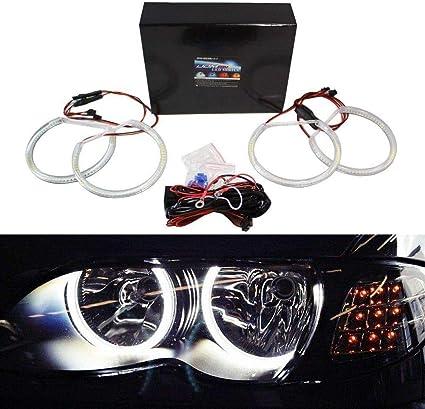 ijdmtoy 7000 K Xenon Blanco 284-smd LED Angel Eyes halo Ring Kit ...