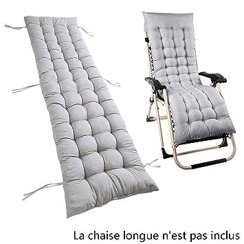 Willkey Coussin Mat Bain De Soleil Pour Lounge Fauteuil Chaise Transat Jardin Relax