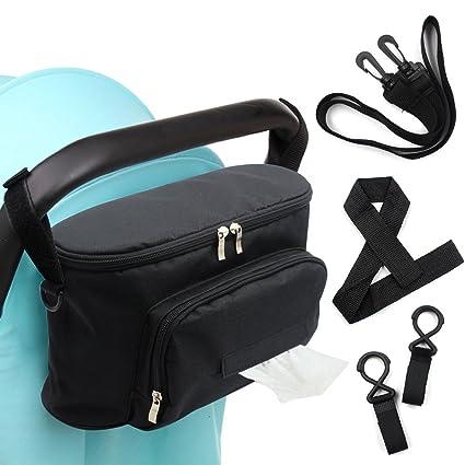 Bolsa de almacenamiento para cochecito de bebé, de Woson. Organizador para carrito de 32 x 12 cm. Incluye correa para hombro, 2 ganchos y 1 correa de ...