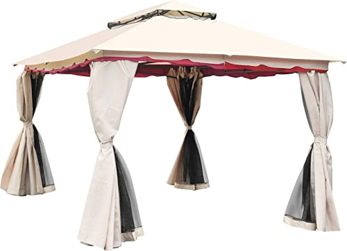Tangkula 13×10 Feet Patio Steel Gazebo