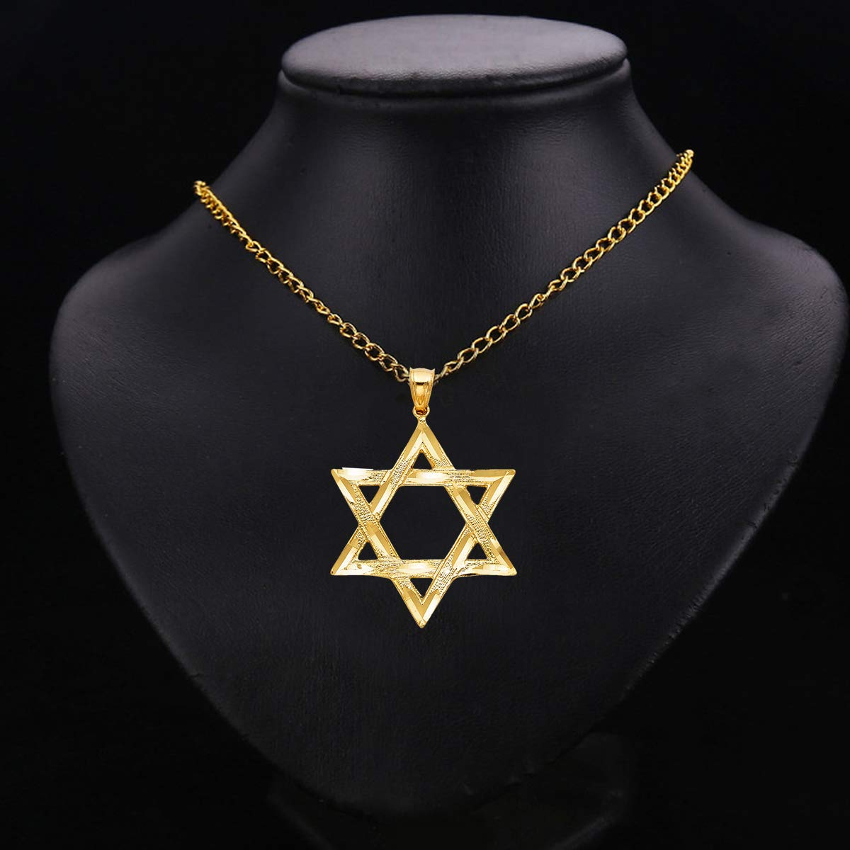 TGDJ 14k Yellow Gold Star of David Pendant