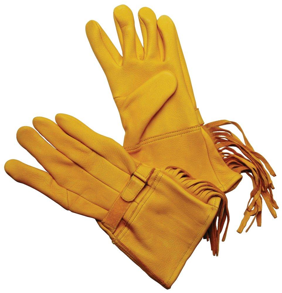 Tan, Medium Napa Western Cavalry Style Gloves