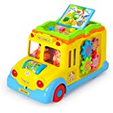 smartcraft Learning School Bus with Lights and Sound, Early Educational Toys for Children (Multicolour)