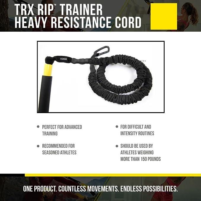 TRX Entrenamiento Sistema de Entrenamiento Rip, SOGA de Alta Resistencia, para un Intenso desafío con el Que trabajarás Todo el Cuerpo