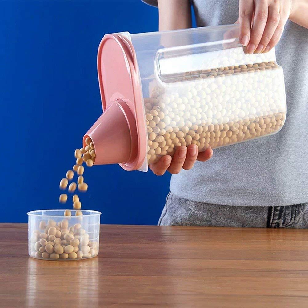 2.5L 4 St/ück Kunststoff-Aufbewahrungsbox K/üche Vorratsbeh/älter Siegelnahrungsmittel Getreide Getreidebeh/älter mit Deckel Gro/ße transparente Vorratsbeh/älter