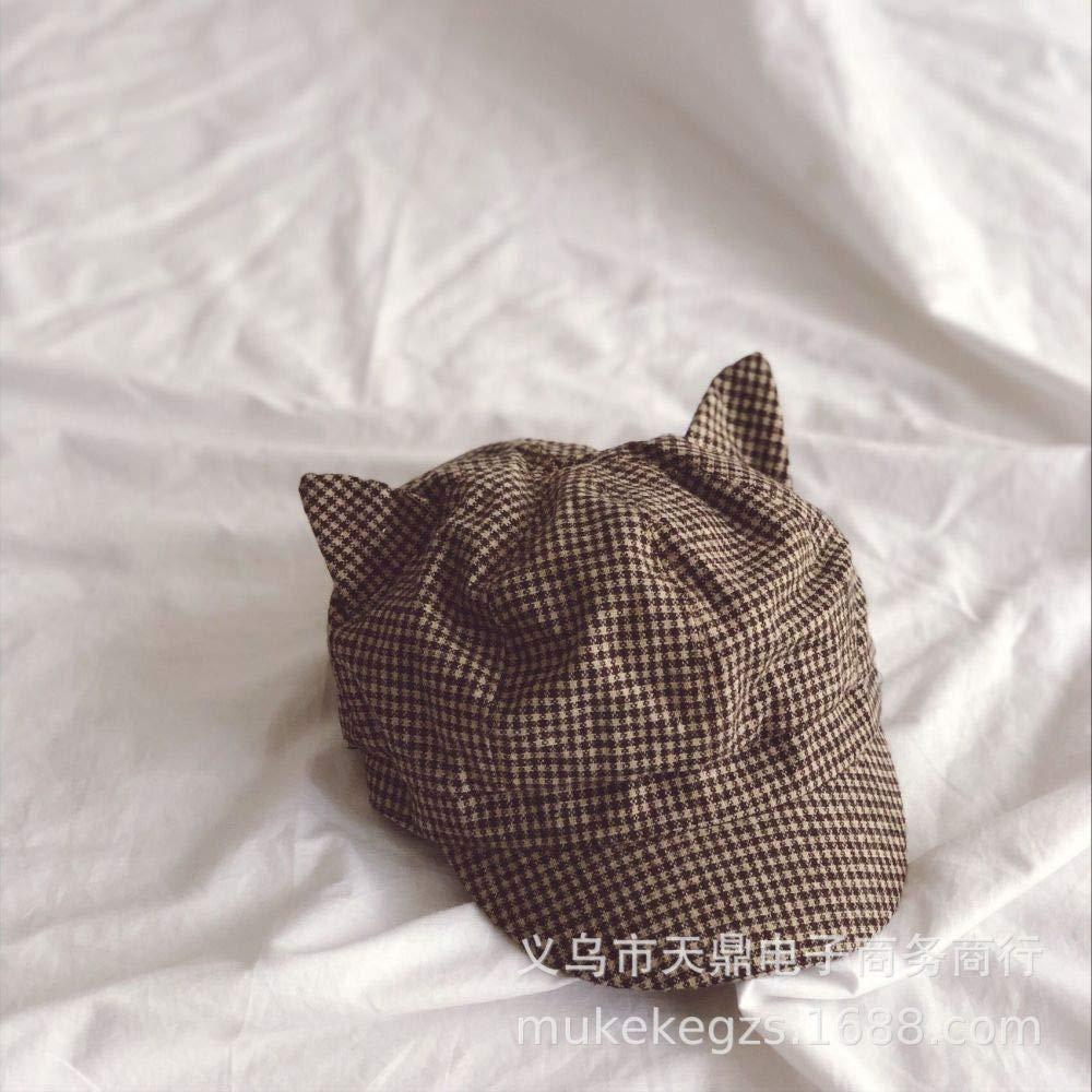 zhuzhuwen Sombrero Octogonal de Oreja Puntiaguda a Cuadros Finos ...