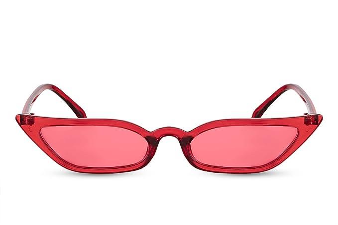 Cheapass Gafas de Sol Gran Montura Ojo de Gato Rojo ...