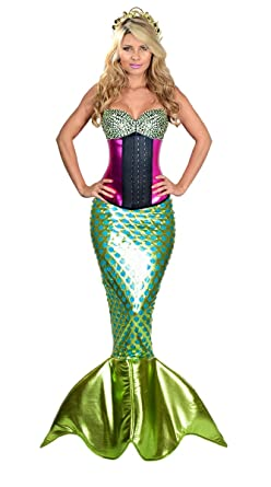 Womenu0027s Cosplay Halloween Mermaid Costume Corset Latex Fuchsia XXSmall  sc 1 st  Amazon.com : latex mermaid costume  - Germanpascual.Com