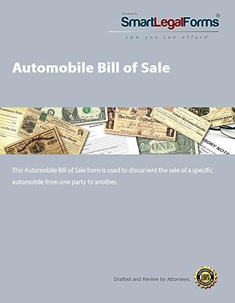 amazon com automobile bill of sale instant access software