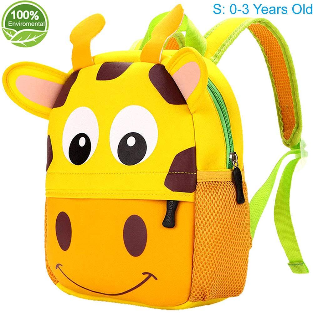 Toddler Backpack for Boys and Girls - Kids Preschool Kindergarten Bags with Cute Animal Cartoon Design Hu Bei Ka Ma