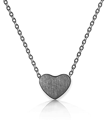 d463a32ec Altitude Boutique Heart Necklace for Women 18kt Gold Rose Gold or Silver  PlateChoker or Long Necklace Friendship Dainty Womens Adjustable 15