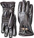 Hestra Mens Leather Gloves: Tallberg Winter Cold Weather Gloves, Black, 11