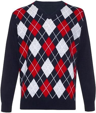 Scottish Wear Mens Cashmere V Neck Sweater