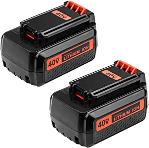 2.5AH Replace Black and Decker 40V Battery for LBX36 LBXR36 LBXR2036 LBX2040 Lithium Ion Battery 2-Pack