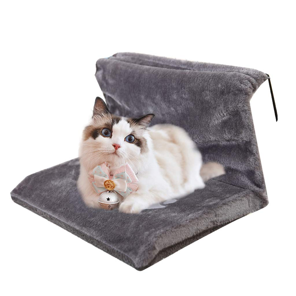 Brown Cat Hammock for Cage, Removable and Washable, Plus Velvet Cat Litter Cat Swing, Hook-up Cat Bed, Suitable for Small Pets,Brown