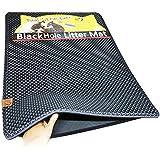 """Blackhole Cat Litter Mat - Super Size Rectangular 30"""" X 23"""" (Dark Gray)"""