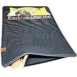 Moonshuttle Blackhole Rectangular Cat Litter Mat, 30 X 23-Inch, Dark Gray (Misc.)