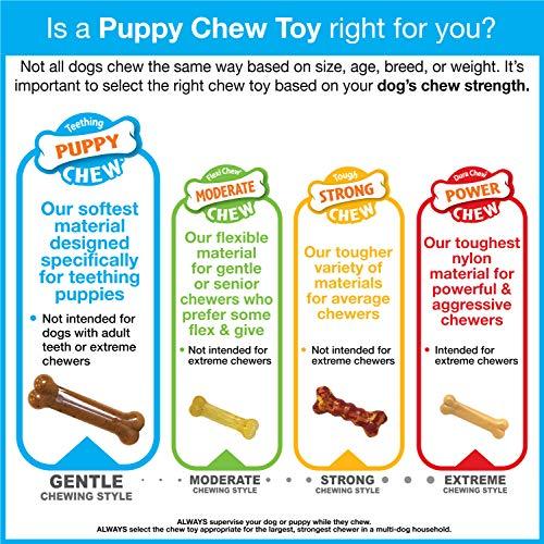 Nylabone Puppy Chew Toy | Puppy Teething Bone | Puppy Toy for Gentle Chewers