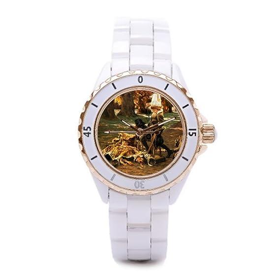 Queensland vestido relojes de cerámica relojes niños baratos Parque camino: Amazon.es: Relojes