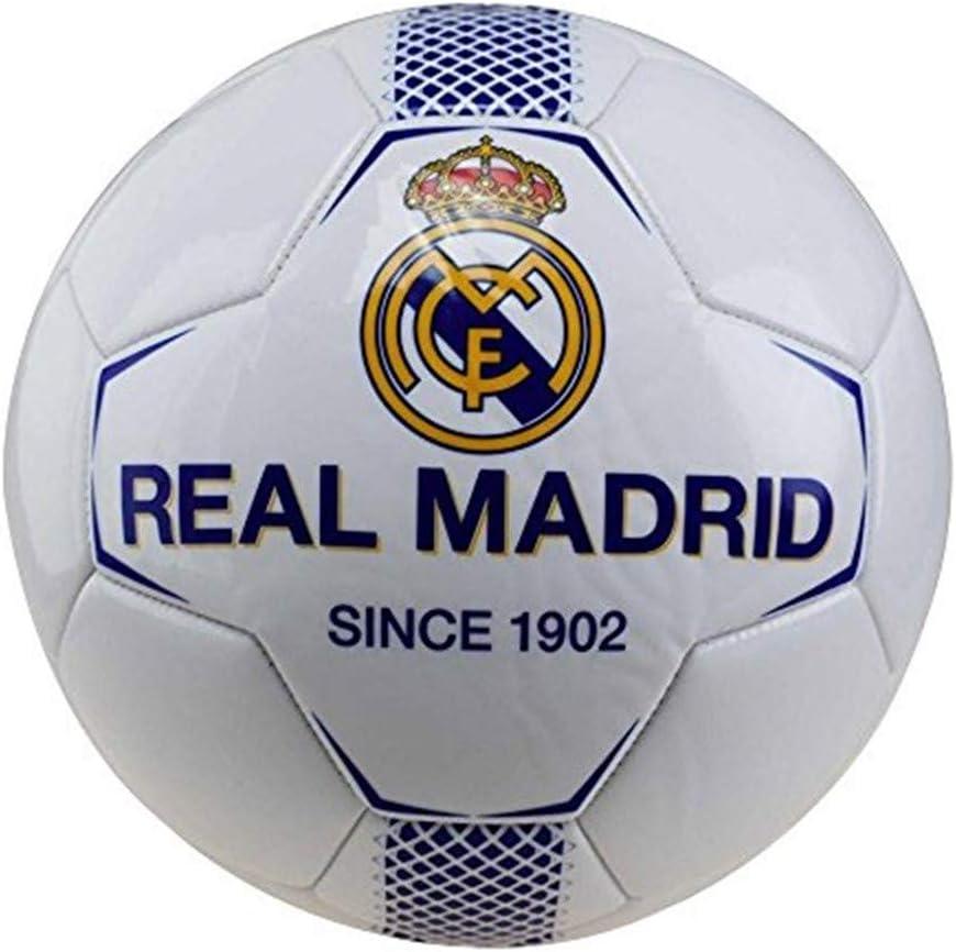 BALON REAL MADRID MEDIANO BLANCO-AZUL: Amazon.es: Juguetes y juegos