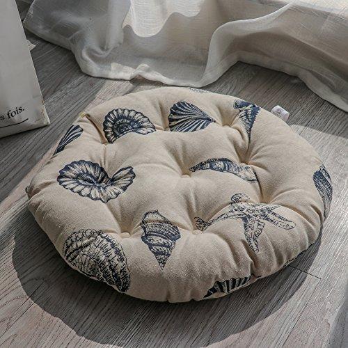 Garden Pad Chair (XMZDDZ Tatami mats Seat cushion,Indoor Outdoor deep seat chair cushion Garden office Car Round Chair pad-L 40x40cm(16x16inch))