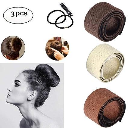1dd728c11037 Hair Bun Maker Donut DIY, ARay 3PC Pelo Moño Francés Mujeres Moldes ...
