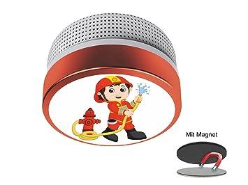 Mini Rauchmelder Mit Feuerwehrmann Motiv Ideal Furs