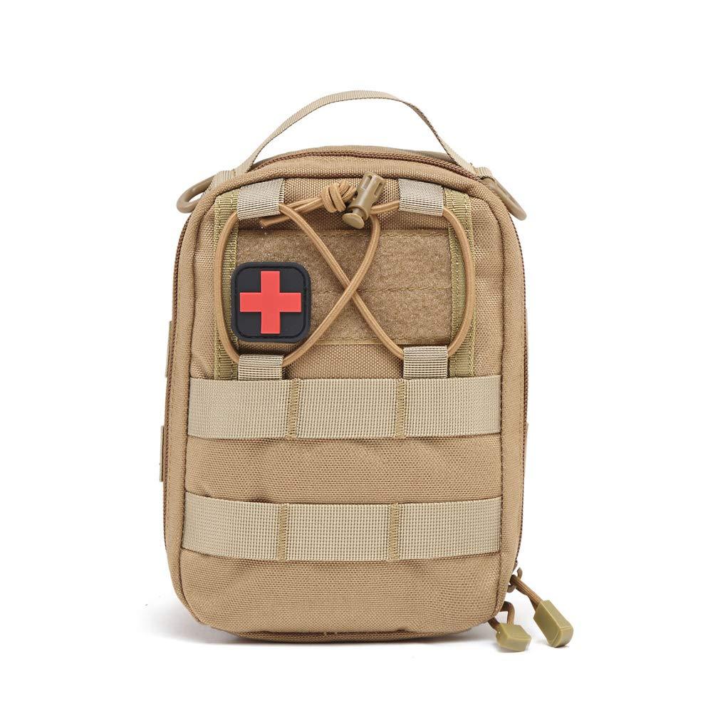 Botiquín de primeros auxilios, bolsa de almacenamiento táctico, botiquín portátil de primeros auxilios para deportes al aire libre, botiquín de primeros auxilios para vehículos de campo