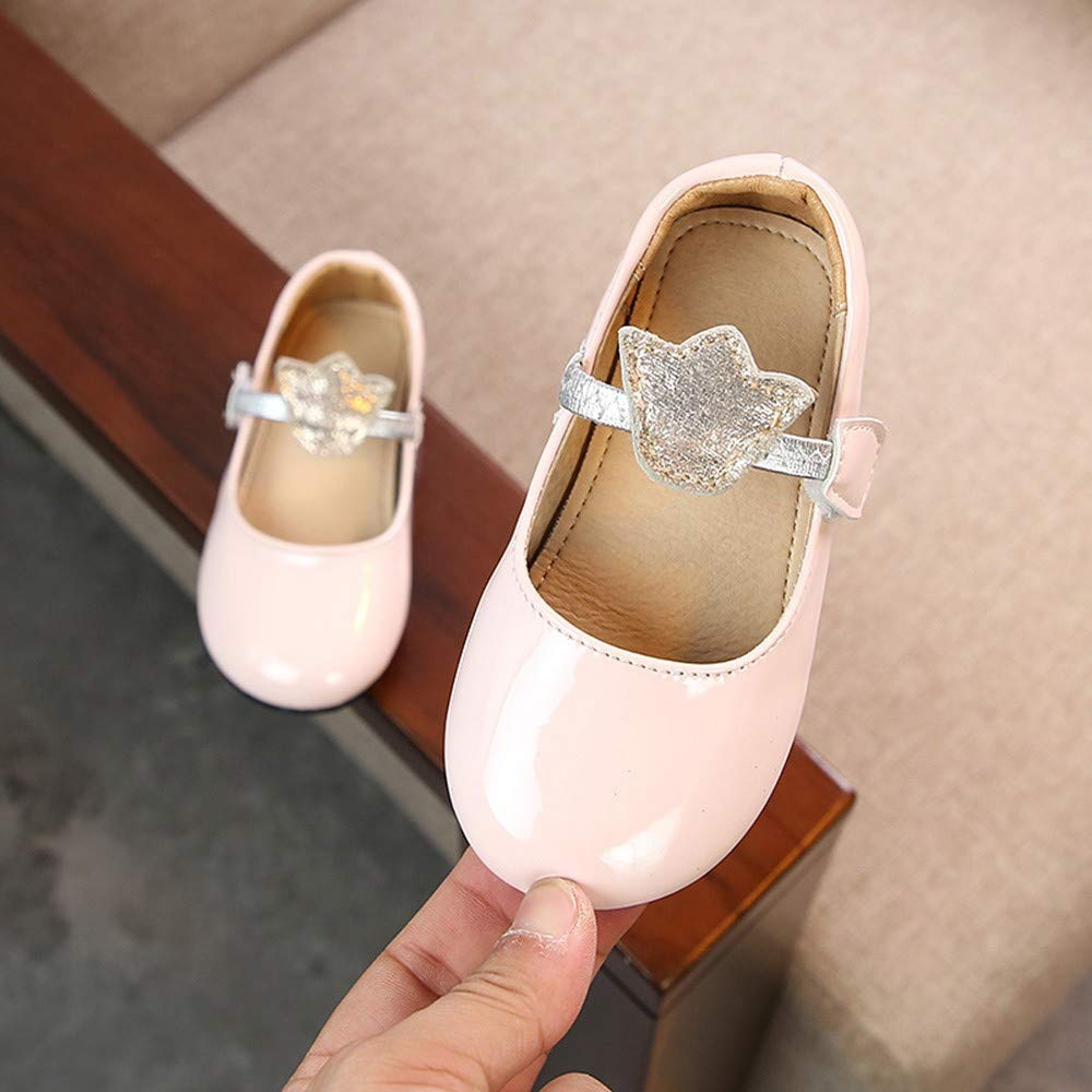 Little Kid//Big Kid Lurryly Girls Bling Princess Shoes Dress Casual Formal Dance Shoe