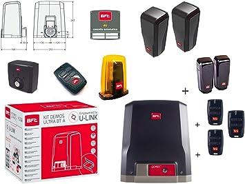 BFT Promo Deimos Ultra BT Kit A600 Motoriductor de puertas correderas 24 V hasta 600 kg Peso D-Track R925268 00002 + 1 par de fotocélulas Desme A15: Amazon.es: Bricolaje y herramientas