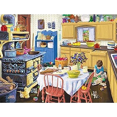 SUNSOUT INC Nana's Kitchen 500 pc Jigsaw Puzzle: Toys & Games