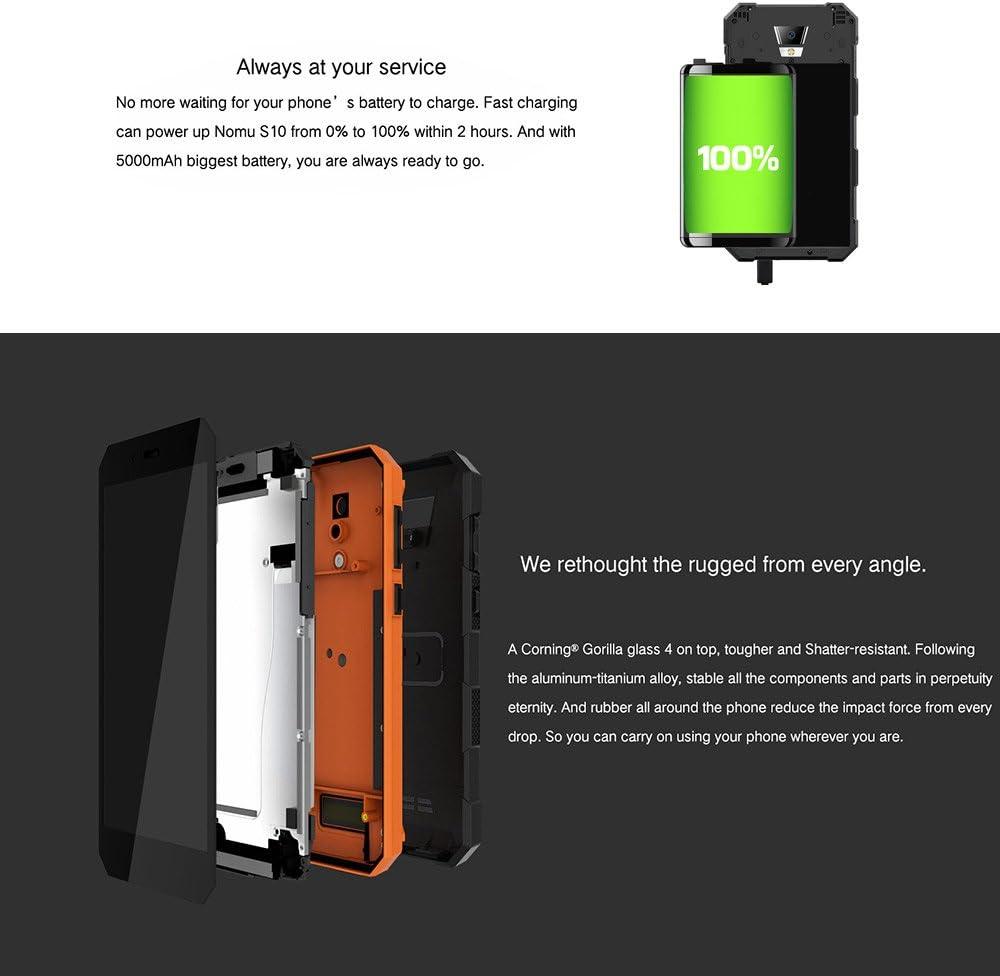 Nomu S10 IP68 Smartphone 4 G LTE Dual SIM Tri-proof impermeable ...