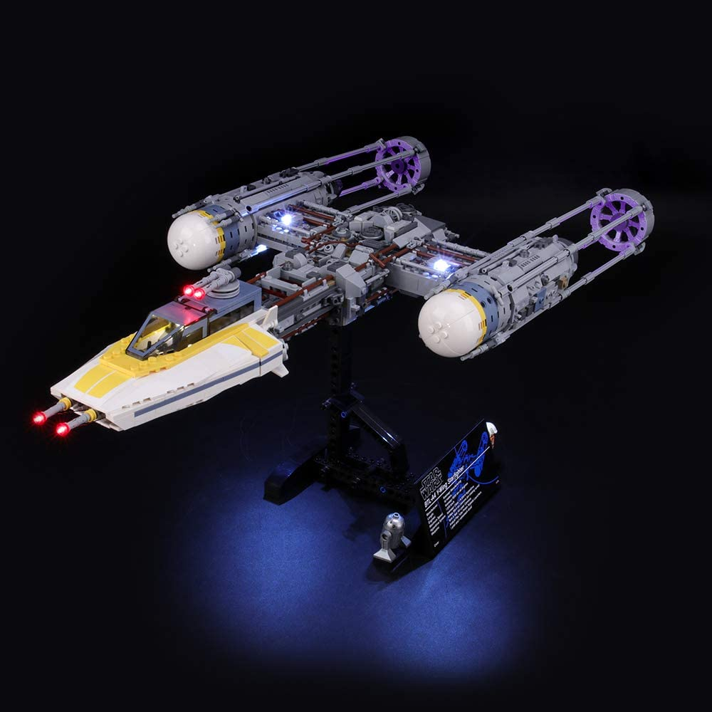 Compatible with Lego 75181 Building Blocks Model BRIKSMAX Led Lighting Kit for Y-Wing Starfighter Not Include The Lego Set