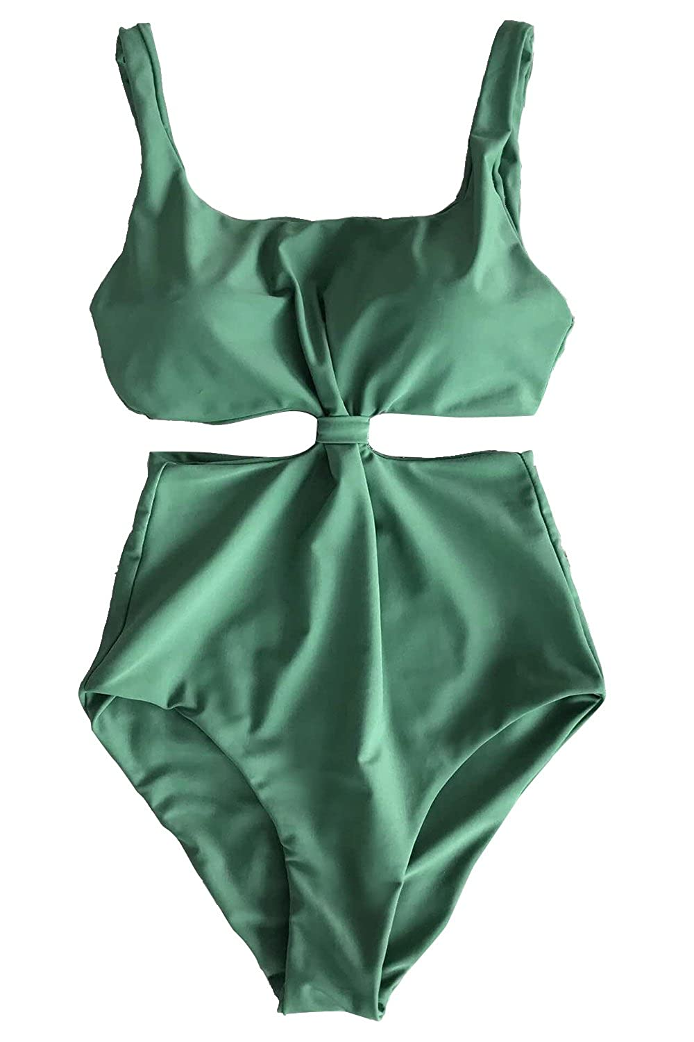 232823abf3 CUPSHE Fashion Women's Double-Layered Padding One-Piece Swimsuit,Green