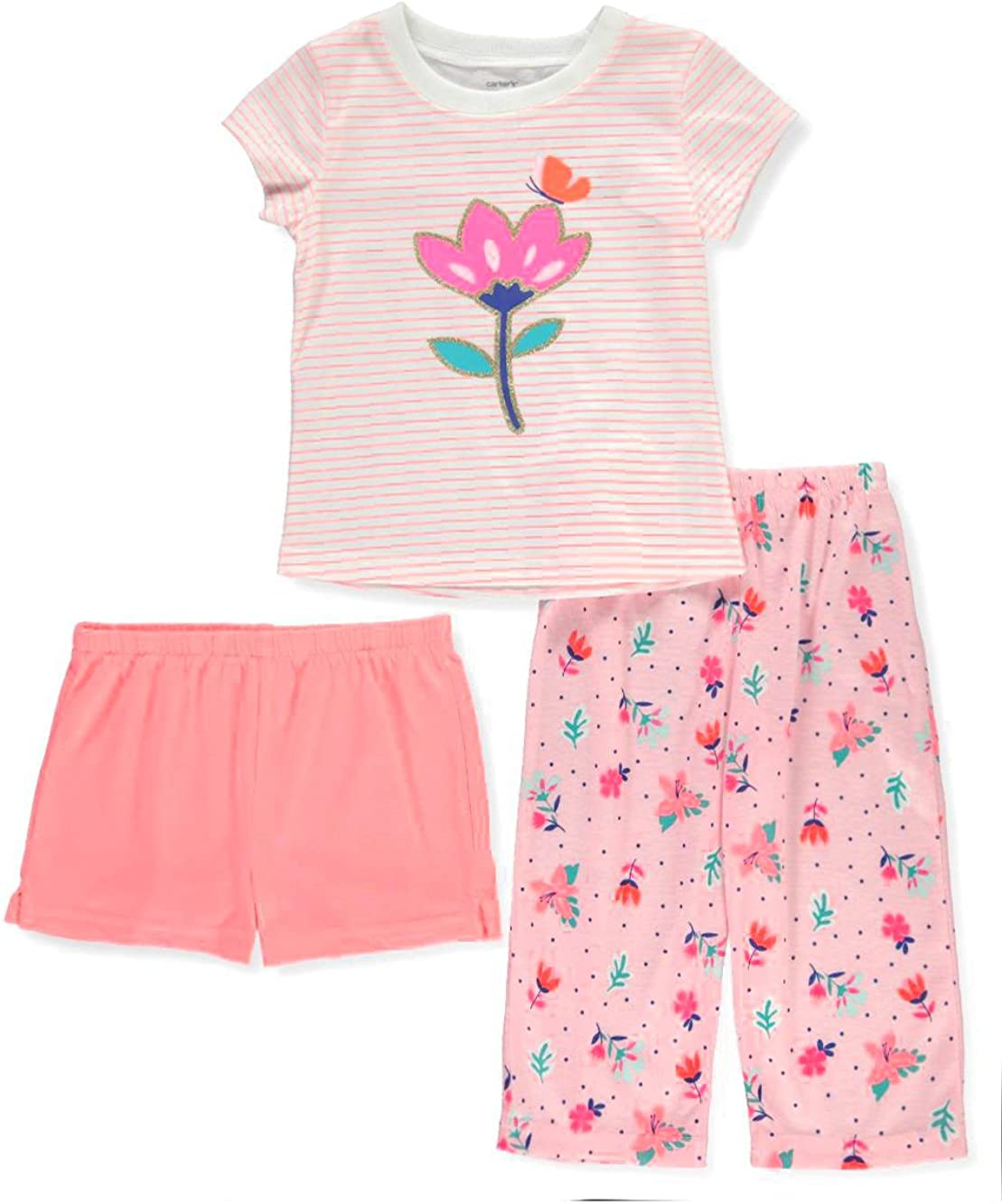 Carters Baby Girls 3-Pc Floral Pajama Set 18 Months
