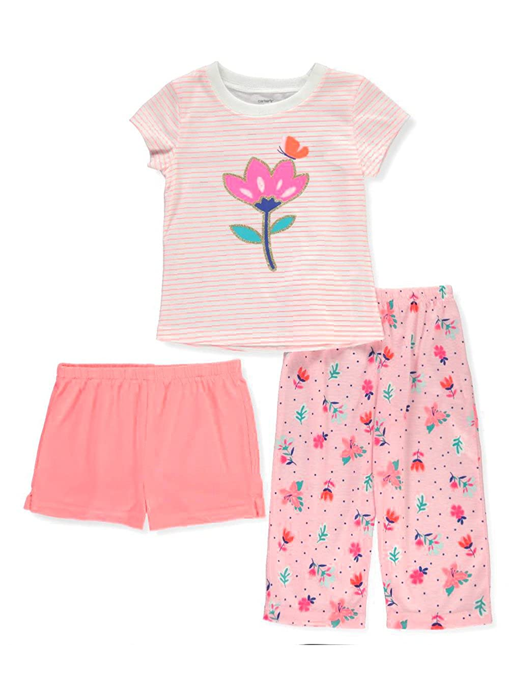 ee58fe5ff Amazon.com  Carter s Baby Girls  3-Pc. Floral Pajama Set 18 Months ...