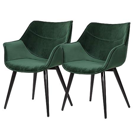eSituro DC52 - Juego de 2 sillas de Comedor para Cocina ...